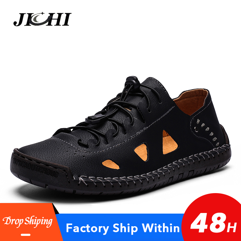 New Fashionable Mens Sandals Summer Outdoor Lightweight Mens Sandals Casual Comfort Flat Men Sandals Casual Brown Big Size