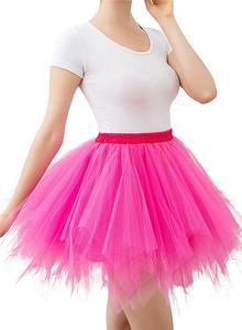 Image 5 - Women Skirts Tutu Princess Fashion Ballet Black Tutu Fluffy Skirt for Women Tulle Petticoat Skirts Elastic Adult Pink Tutu Skirt