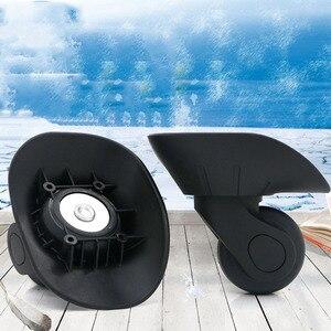 Image 5 - 1 para DIY wymiana koła bagażowe do walizek naprawa ręczna kółka Spinner części wózek gumowy bagażnik czarny W06