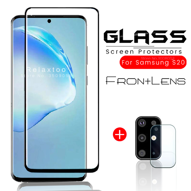 2-in-1 Amrored Glass For Samsung S 20 Safety Protective Glass For Samsung Galaxy S20 Ultra 5g 2020 Protection Tremp Film Cover