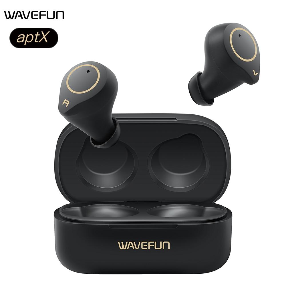 Wavefun XPods3 Wireless Headphones Bluetooth Earphone IPX7 Waterproof aptX Headphones Sport Earphone Touch Control Bluetooth 5