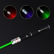1 шт. 5 мВт высокомощная лазерная указка Красная Зеленая синяя мощная лазерная ручка уличные игрушки охотничий светильник для игры с детьми ...