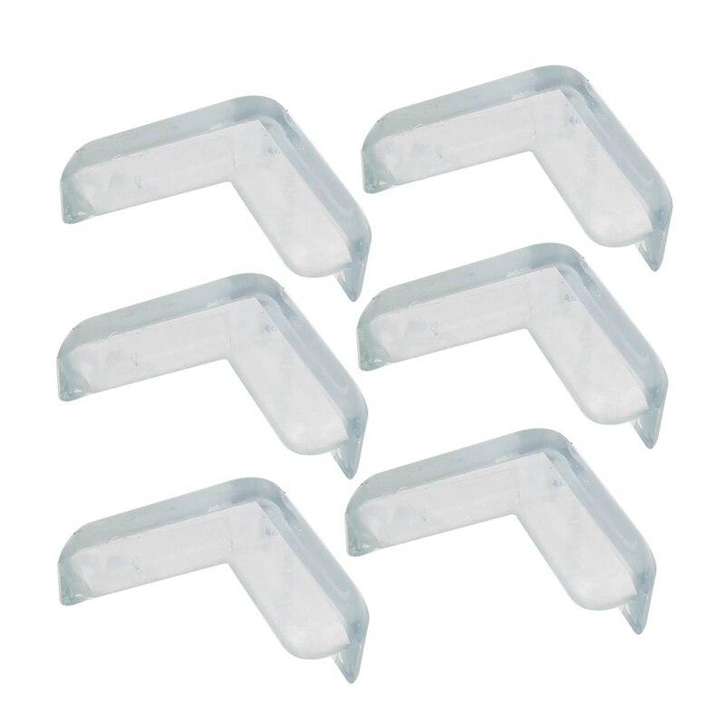 6 Pcs Soft Rubber Desk Corner Pad Cover Protector Cushion Transparent