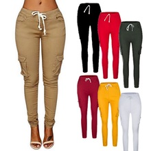 Women Cargo Pants Sexy Ladies Casual Harem Tactical Pant Women Military Clothing Multi-Pocket Joggers Sweat Pants