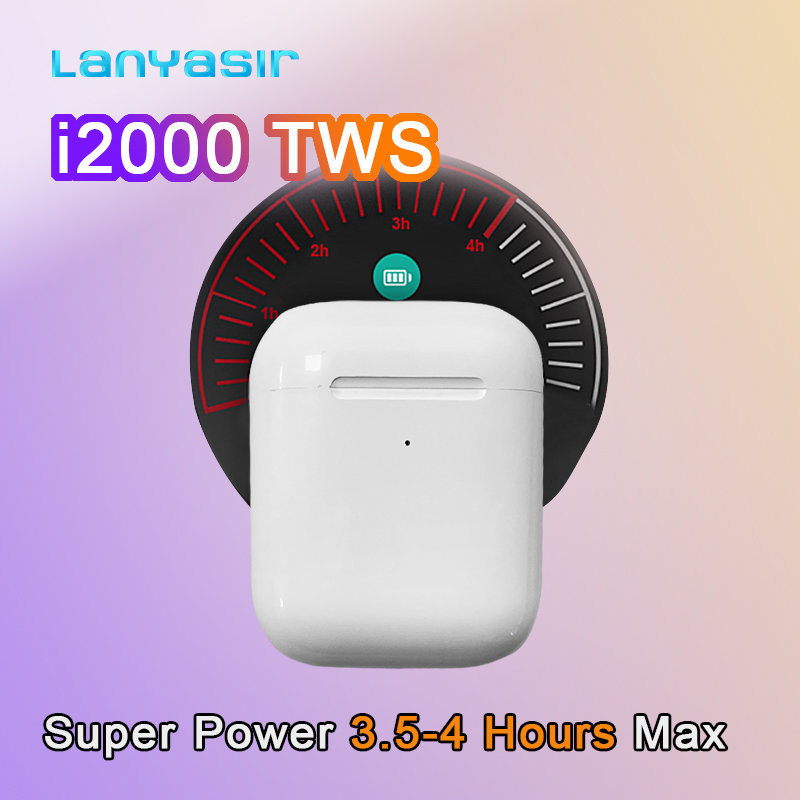 Lanyasir i2000 <font><b>TWS</b></font> In-ear <font><b>Smart</b></font> <font><b>Sensor</b></font> Wireless Earphone 8D Super Sound Earbuds Pop up Bluetooth Earphones wireless earphone image