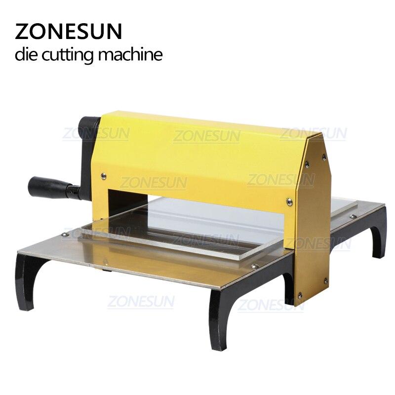 Image 5 - ZONESUN Manual Leather Die Cutting Machine Handmade Earring Die Cuts Embossing Machine For Punching Clicker Die Steel Rule DiePunching   -