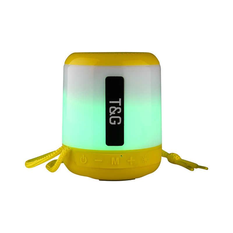 TG LED ミニポータブルワイヤレス FM ラジオスピーカーハンズ Aux USB TF カードサブウーファーカイシャ · デ · ソム bluetooth スピーカーラジカセ