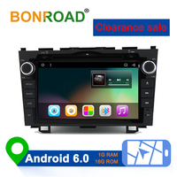 Bonroad 8 Quad Core 2din Android 6.0 Car DVD Player for CR V Car Radio Video Player with 1G RAM 16G ROM 3G 4G Wifi HD 1024*600