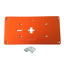 Electric Jig Saw Flip Board Router Table Insert Plate with Mounting Screws for Jig Saw Woodworking Work Benches