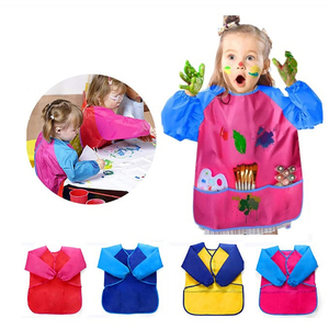 1pc Bambini Grembiule Per La Scuola di Pittura Grembiule Portatile Manica Lunga Grembiule Impermeabile