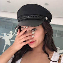 Fashion Lace cotton hat cap women Casual streetwear rope flat cap Elegant solid autumn winter warm beret hat female
