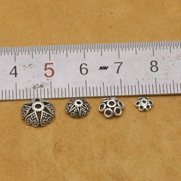 925 סטרלינג כסף אביזרי חרוזים Caps עבור DIY תכשיטי ביצוע S925 ורכיבי אלקטרוניקה