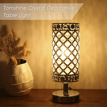 Crystal Beside Table Lamp with Dual USB Charging Night Light for Bedroom Living Dining Room Office Decorative Modern Desk lamp(China)