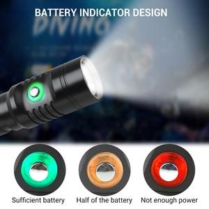 Image 5 - Diving LED Flashlight Dive 80 Meter XM L2 LED 21700 Waterproof IPX8 Underwater Camping Lanterna Torch Lamp Light