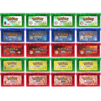 Video Game Cartridge Console Card 32 Bits Pokeon Emerald FireRed LeafGreen Ruby Sapphire eESP/EUR/GRE/USA For Nintendo GBA