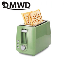 Bread-Baking-Maker Grill Oven Sandwich Toast Electric-Toaster 2-Slice Household Stainless-Steel