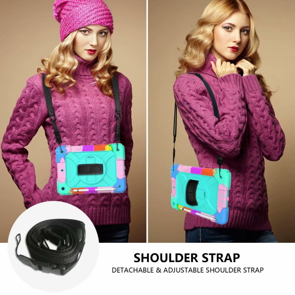 Generation 7th iPad Stand For Holder Hand Cover For Case 360 Strap Pencil iPad Rotating