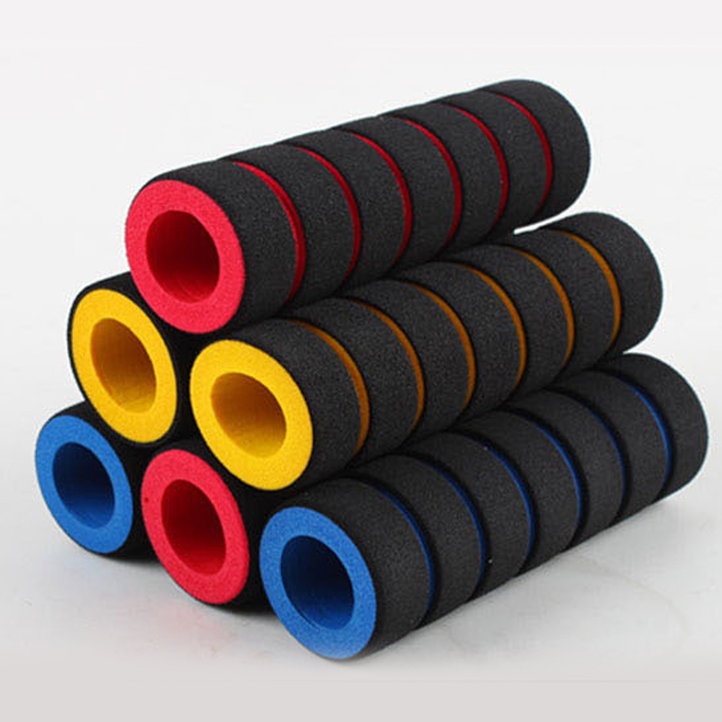 1 Pair Bike Handlebars Racing Bicycle Motorcycle Handle Bar Foam Sponge Grip Cover Non-slip Cycling Riding Bicycle Grips