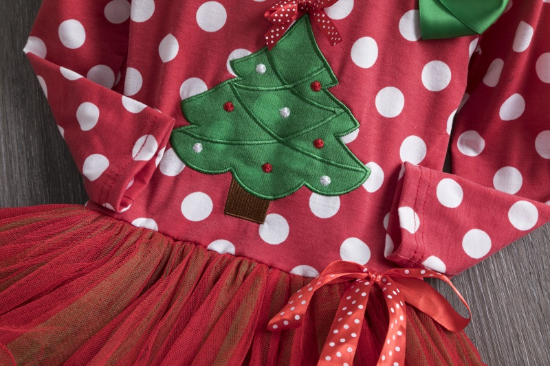 H093bd9b1f7604b0b96c97bc7e457dff5i 2-6T Santa Claus Christmas Dress Kids Party New Year Costume Winter Snowman Baby Girl Clothes Christmas Tree Children Clothing