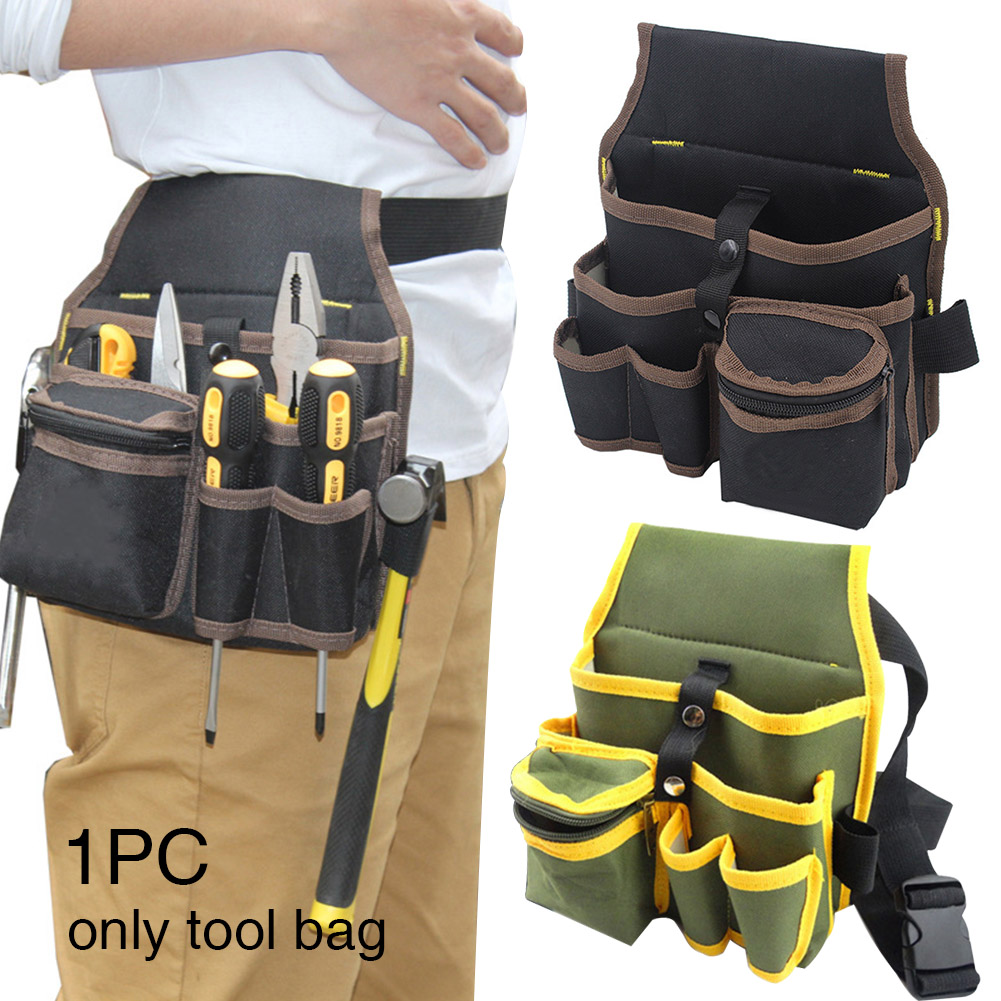 Tool Bag Quick Release Holder Wear Resistant Travel For Electrician Durable Oxford Cloth With Belt Waist Pocke Adjustable Buckle