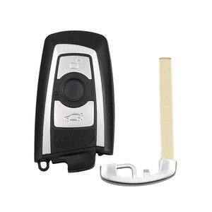 Image 3 - KEYYOU جديد وصول استبدال 3 أزرار مفتاح السيارة قذيفة لسيارات BMW 1 3 5 6 7 سلسلة X3 X4 مفتاح فوب حامي
