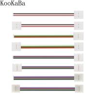 5-50 uds/2/3/4/5Pin LED conector doble Clip de Cable conector para 3528 WS2811 WS2812 5050 RGB RGBW tira de LED RGBWW Luz