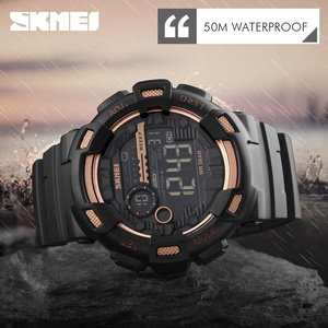 Image 4 - SKMEIดิจิตอลผู้ชายกีฬานาฬิกาLEDนาฬิกาข้อมือชายนาฬิกาจับเวลากันน้ำ 50 เมตรนาฬิกาRelogio Masculino 1243