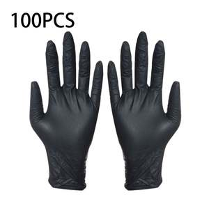 Washing-Gloves Tattoo Nitrile Laboratory Disposable Medical Household 100pcs Nail-Art