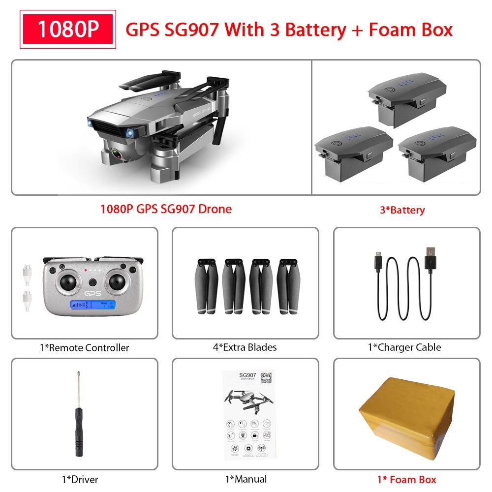 ZWN SG907 SG901 GPS Drone with Wifi FPV 1080P 4K HD Dual Camera Optical Flow RC Quadcopter Follow Me Mini Dron VS SG106 E520S