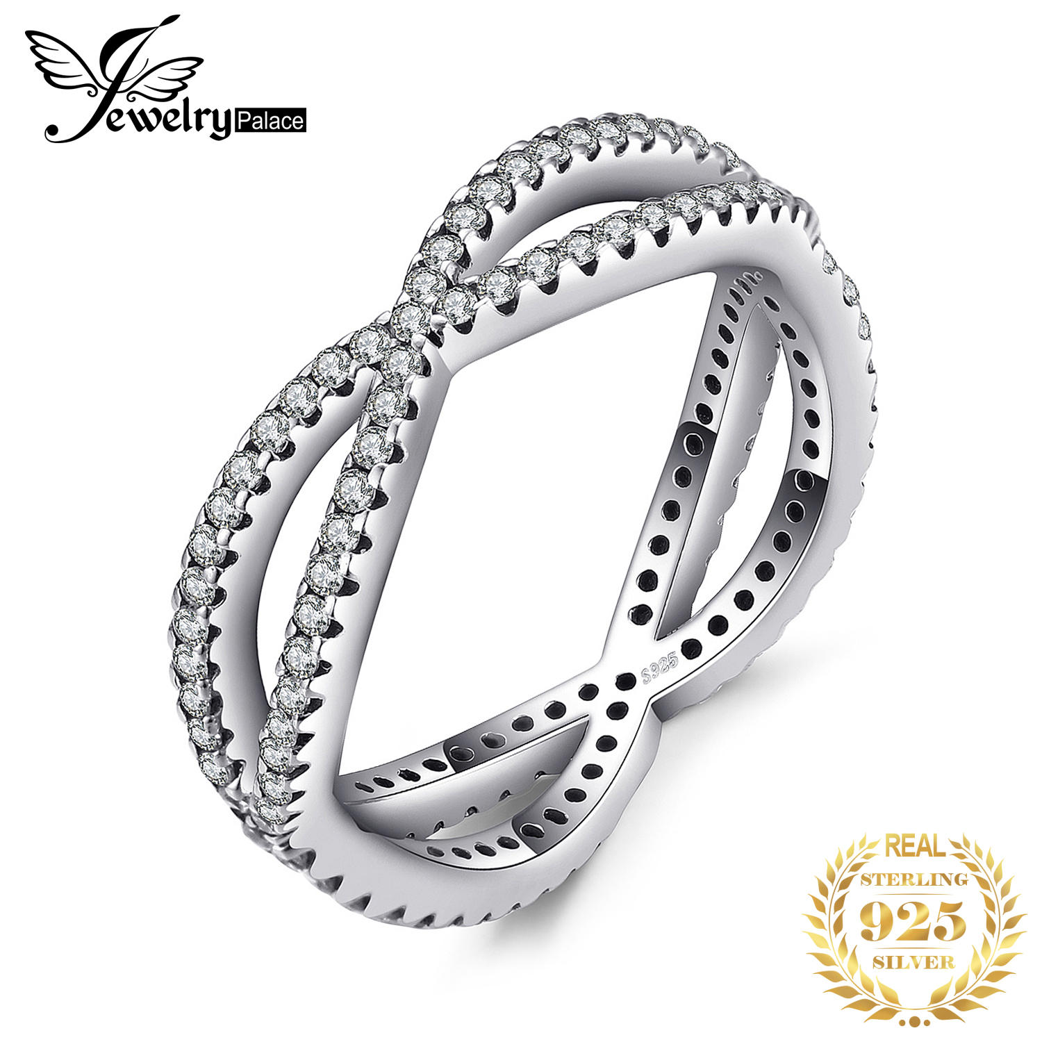 JewelryPalace 925 Sterling Silver Cosmic Lines Statement Ring Gifts For Women Anniversary Fashion Jewelry New Arrival 2018