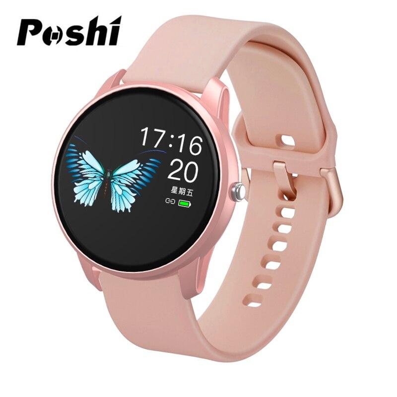 Femmes montre intelligente Sport montre étanche moniteur de fréquence cardiaque couleur écran Bluetooth montre-bracelet Fitness Tracker pour Android IOS