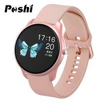 נשים חכם שעון ספורט שעון עמיד למים קצב לב צג צבע מסך Bluetooth שעוני יד כושר Tracker עבור אנדרואיד IOS