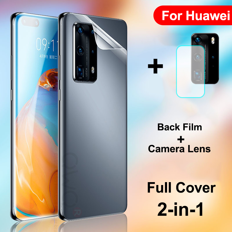 Full Cover Hydrogel Film For <font><b>Huawei</b></font> P40 P30 P20 Lite <font><b>Mate</b></font> <font><b>20</b></font> <font><b>Pro</b></font> Screen Protector For <font><b>Huawei</b></font> P smart 2019 Back Camera Lens <font><b>Glass</b></font> image