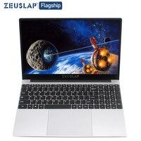 ZEUSLAP-15.6 дюймовый ноутбук Intel i7 8 Гб Оперативная память 64 Гб 128 ГБ 512 1 ТБ SSD Тетрадь Windows 10 pro 1920X1080P студент игровой ноутбук