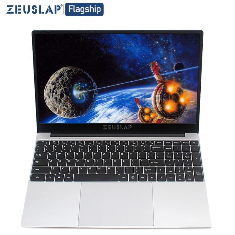 ZEUSLAP 15.6 Inch Intel Quad Core 8GB RAM 64GB 128GB 512GB 1TB SSD Notebook Windows 10 Pro 1920X1080P Netbook Laptop