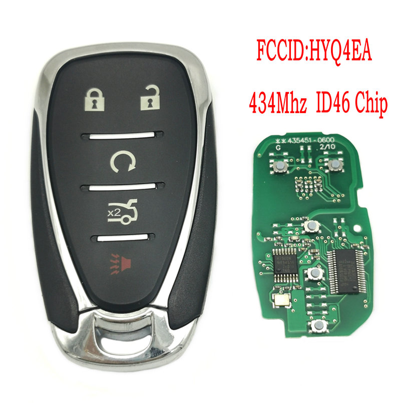 Datong World Car Remote Keyless Entry For <font><b>Chevrolet</b></font> Cruze <font><b>Spark</b></font> Camaro Equinox Malibu <font><b>2017</b></font> 2018 ID46 434Mhz FCC HYQ4EA Car Key image
