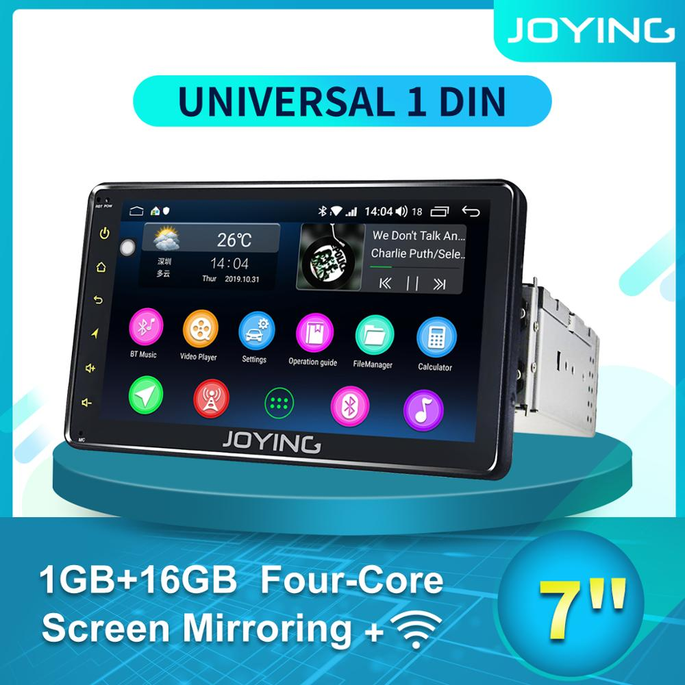 JOYING Single 1 din 7'' Android Auto Product Car Radio stereo glasses Head Unit Multimedia NO DVD Player Tape Recorder Cam Dash image