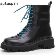Autuspin для женщин 5 см; Обувь на платформе; Женские Кожаные