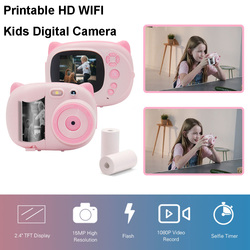 15 MP 1080P HD Mini Cute Children Video Photography Camcorder Photo Camera with 2.4 Inch TFT IPS Screen WiFi Instant Printing