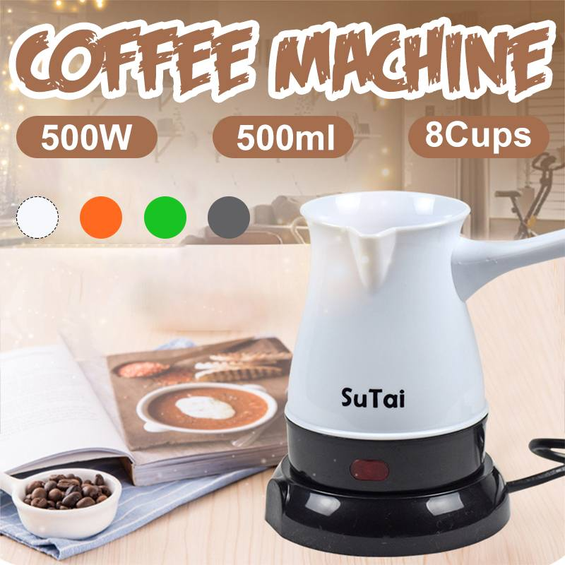 8 Cups 500W 500ml Mini Electric Heaters Stove Hot Cooker Plate Milk Water Coffee Tea Heating Furnace Kitchen Appliance