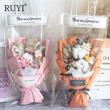 Ins alto-valor bolsa bouquet seco, floresta pequenas flores secas com presente de mão gypsophila aniversário graduação diy manual presente