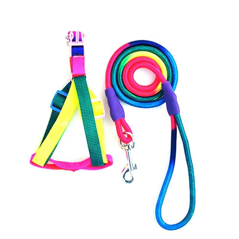 Pet Supplies Dog Hand Holding Rope Pet Colorful Chest And Back With Chest And Back-Dog Chain Dog Rope
