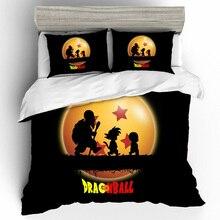 Edredones de algodón y lino juegos de cama juego de edredón de Bola de Dragón juego de cama de tamaño King