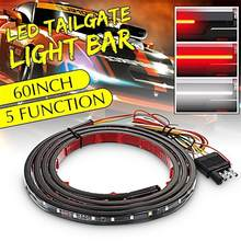 60 Inci Tahan Air 5 Fungsi LED Truk Pickup Strip Tailgate Lampu Bar Reverse Rem Berhenti Consequential Mengalir Sein(China)