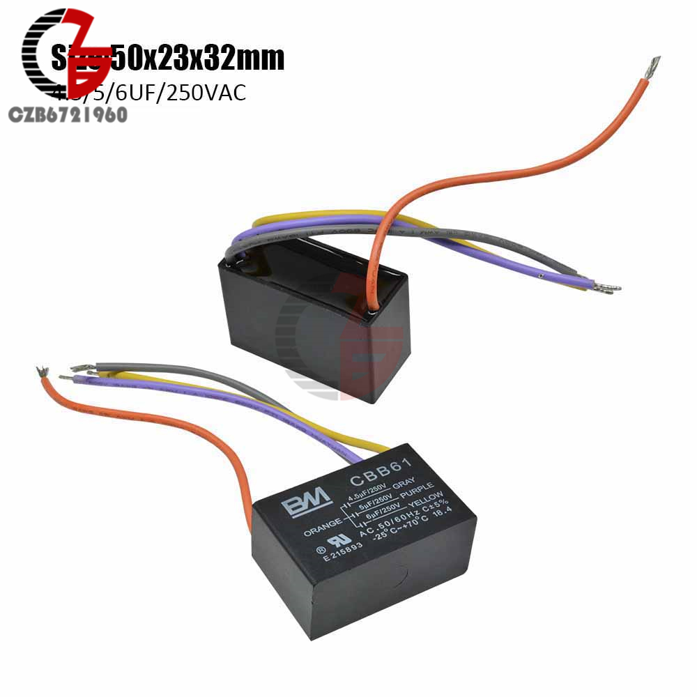 CBB61 Electric Machine Starting Capacitor 7uf 250V Ceiling Fan Capacitor