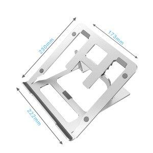 Image 5 - 5 biegów regulowany aluminiowy składany stojak na laptopa pulpit uchwyt na notebooka biurko stojak na laptopa na 7 15 calowy Macbook Pro Air