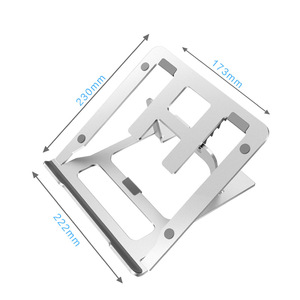 Image 5 - Support réglable en aluminium pliable pour ordinateur portable à 5 engrenages, pour ordinateur de bureau, pour Macbook Pro Air 7 15 pouces