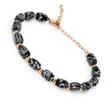 BOFEE Natural Stone Beads Chakra Wrap Bracelet Yoga Tiger Eye Labradorite Rope Steel Fashion Jewelry Hand Chain Men Women Gift