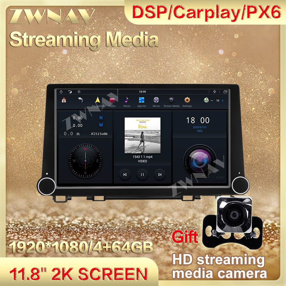 4G+64GB MAX-PAD 11.8'' Android 9.0 Car Multimedia Player streaming media For Honda crv 2017-2020 Navigation Head unit Auto Radio image