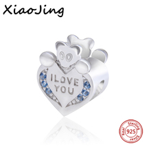 Fit Original Pandora Bracelets New arrival Mickey Mouse charm animal beads Silver 925 Beads DIY Blue Stone Jewelry Making Gifts